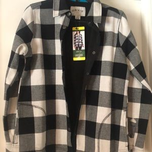 Orvis fleece lined shirt jacket